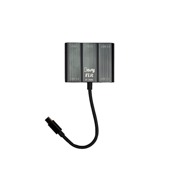 مبدل TYPE-C به USB/Type-c/HDMI مدل EasyFix EF-9509S