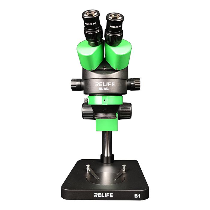 لوپ سه چشمی ریلایف RELIFE RL M3T-B1 مناسب تعمیرات گوشی موبایل