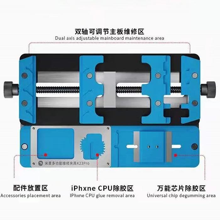 گیره برد یونیورسال MIJING K23PRO مناسب نگهداری برد تمام گوشیهای موبایل