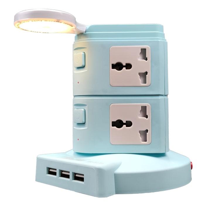 مولتی شارژر RELIFE RL-313A دارای 8پریز و 3 پورت USB